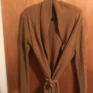 Tan Cardigan with Belt